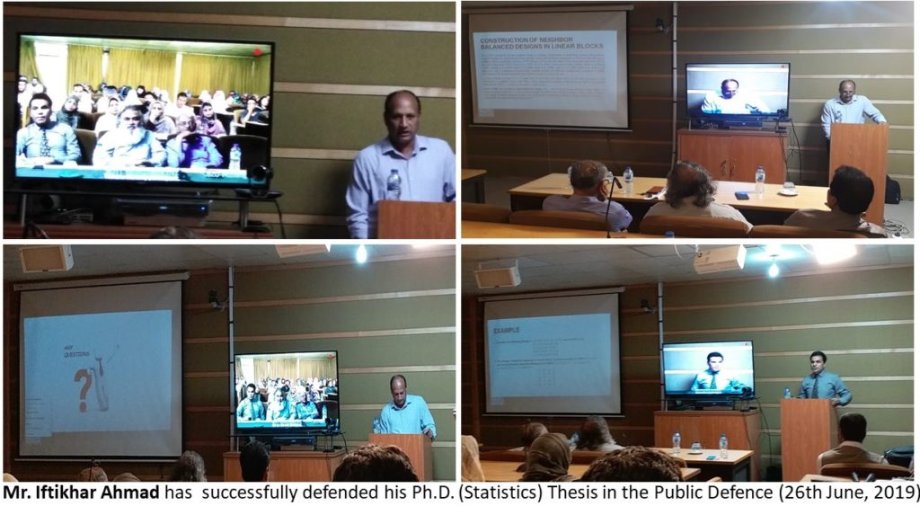 Mr. Iftikhar Ahmed Successfully Defended his Ph.D. Thesis