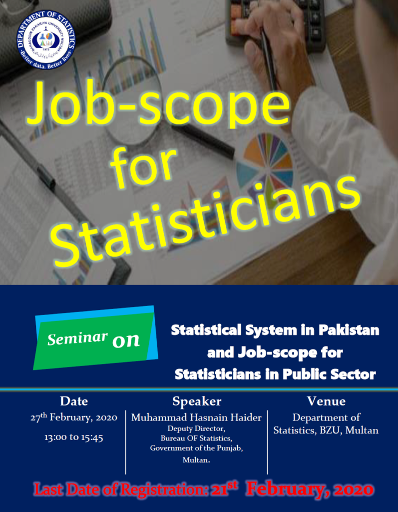 Job Scope for Statisticians