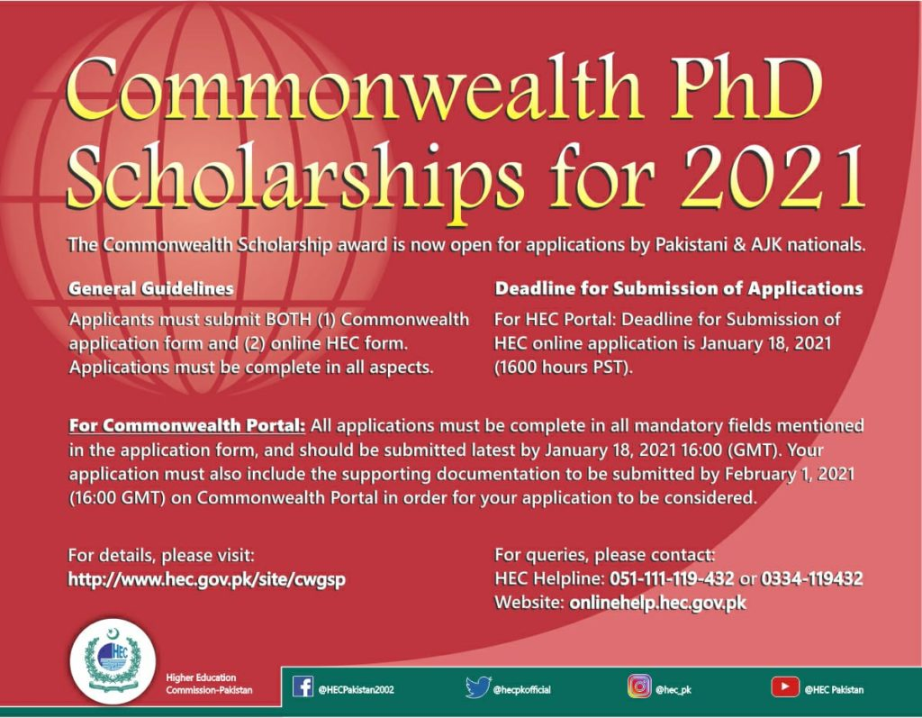 Commonwealth-PhD-Scholarship-2021