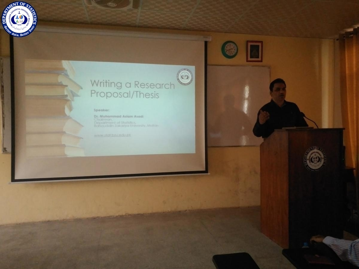 Writing A Research Proposal/ thesis 11-OCT-2019